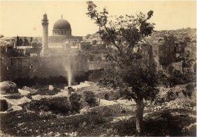 Jerusalem, Pool Of Bethesda, The Mosque Of Omar From