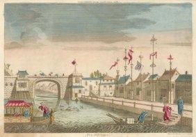 Vue D'optique, D'un Pont De La Cochinchine Et La