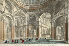 A Curious Perspective View Of The Inside Of St. Paul's