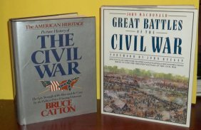 Collectible (2) Book Hc Civil War Reference Lot