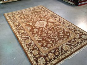 6x8 Transitional Tibetian Style Hand Knotted Wool Rug
