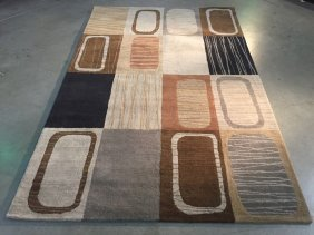 6x8 Contemporary Design Hand Made , Wool Area Rug