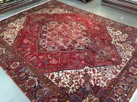 10x13 Quality Authentic Persian Heriz Hand Knotted Wool