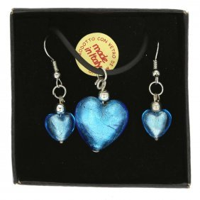 Venetian Reflections Jewelry Set - Light Blue