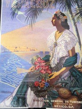 Vera Cruz Mexican Tourism Poster 1946