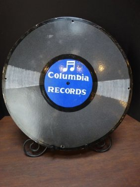 Columbia Records 1920s Porcelain Enamel Sign