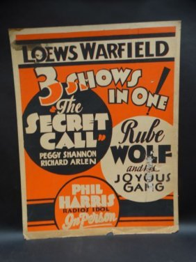 Loews Warfield 3 Shows-in-one Poster 1931