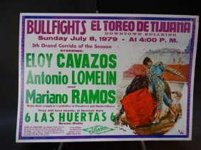 Bullfighting Poster From Mexico Superior Beer