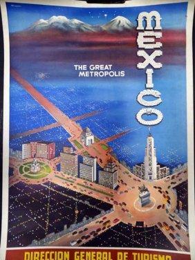 Mexico City Tourist Poster 1946