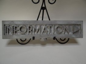 Cast Aluminum Information Sign Deco Lettering #1