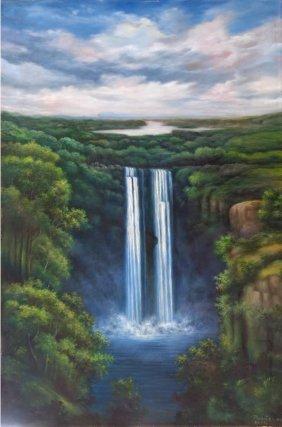 The Cascade - Oil On Canvas