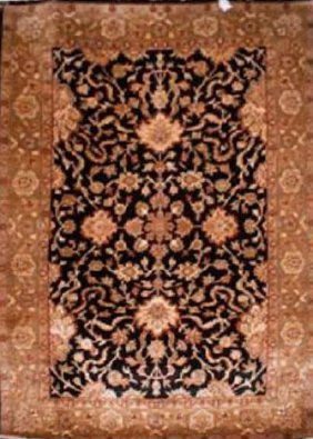 """Indian Rug Agra Hand Knotted 9'0"""" X 6'0"""""""
