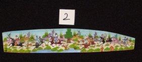 Persian Antique Miniature On Bone Painting Fine Art