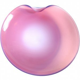 Barbini Murano Opalexcent Pink Centerpiece Bowl