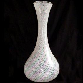 Fratelli Toso Murano Ribbons Flower Vase