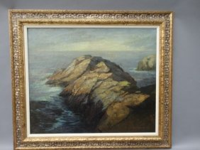 Dewitt Parshall Point Lobos Oil On Canvas