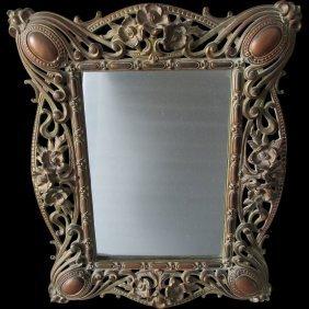 Antique Art Nouveau Vanity Mirror, Picture Frame