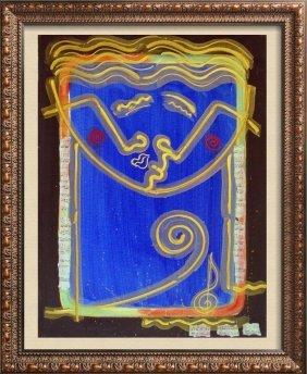 Pop Abstract Bold Cobalt Blue Original Multiple