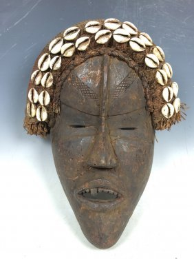 Dan Mask With Cowry Shell