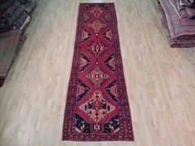 4x13 Persian Hamadan Runner Handmade Antique Oriental