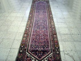 3x13 Persian Tabriz Runner Rug Hand Knotted Trendy
