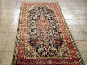 4x9 Persian Hamadan Runner Rug Hand Knotted Discount