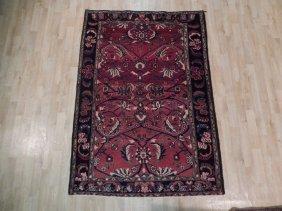 5x7 Persian Hamadan Rug Handmade Antique Oriental Rugs