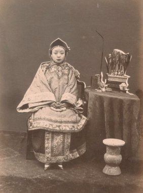 Wealthy Young Lady, Shanghai. C1880