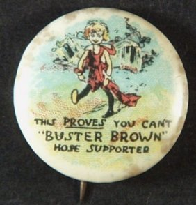 Vintage Buster Brown Pixie Celluloid And Tin