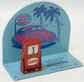 Rare Texaco Oil Advertising Filling Station Flip Date