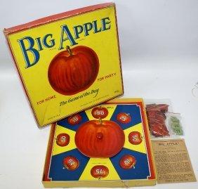 Vintage 1938 Big Apple Game By Rosebud Art Co., Fun