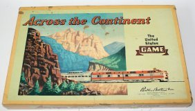 Vintage 1952 Across The Continent United States Board