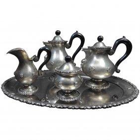 Zigri Con Rosoni By Buccellati Sterling Silver Tea Set
