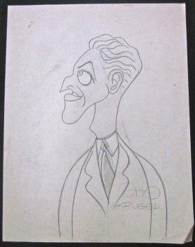 Otto Kruger -original C.1930's T. Hee Caricature Pencil