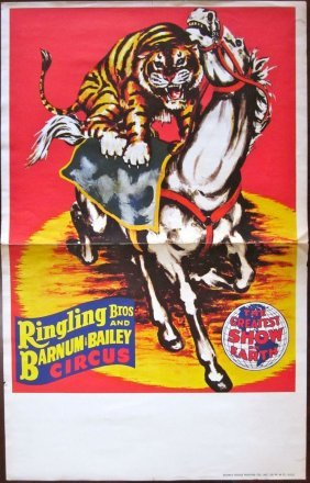 Vintage Ringling Bros. Barnum & Bailey Circus Poster -