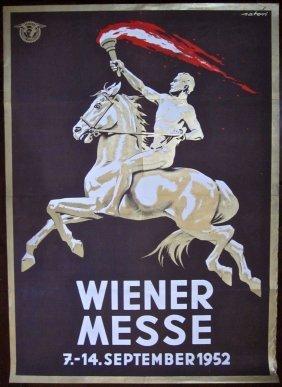 Wiener Messe - Original 1952 Austrian Advertising