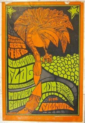 Vintage 1967 Concert Poster - Electric Flag & Mother