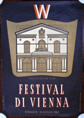 W Festival Di Vienna - Original 1964 Austrian