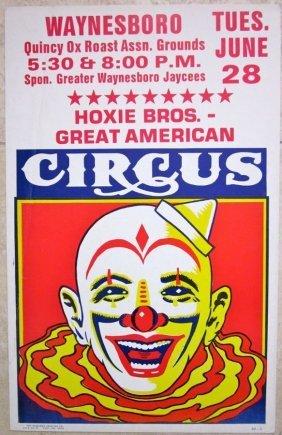 Vintage Hoxie Bros. Circus Poster - Amazing Vivid