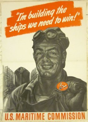 Original Wwii Poster - U.s. Maritime Commission -