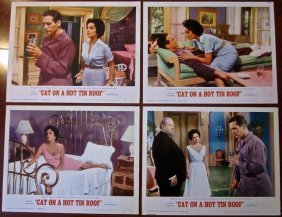 Cat On A Hot Tin Roof - Vintage R66 Lobby Card Set Of 4