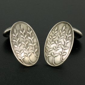 Art Deco .925 Sterling Silver Unger Brothers Leaf Stalk