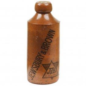 Royal Doulton Lambeth Ginger Beer Bottle For Jewsbury &
