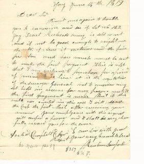 1819 Folded Letter Albany New York