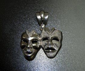 10 Karat White Gold Gorgeous Mask Charm