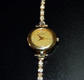 18 K Two Toned Gold Geneve Italian Women's Watch