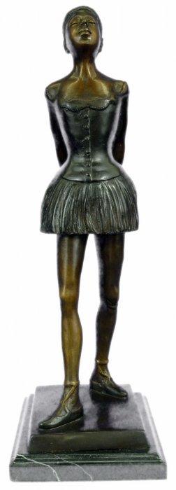 Ballerina Bronze Sculpture On Black Marble Base