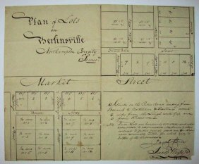 1818 Lot Plan Berlinsville Northampton Co Lehigh Twp Pa