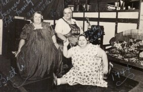 1944 Rppc Circus Freak Obese Sideshow People, The