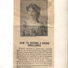 C 1910 Cliffords Canton Oh Handbill, How To Be Sword